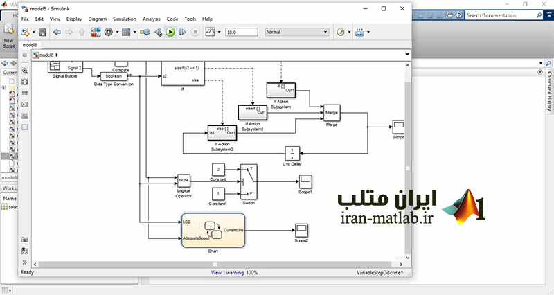stateflow simulink MATLAB train video farsi3