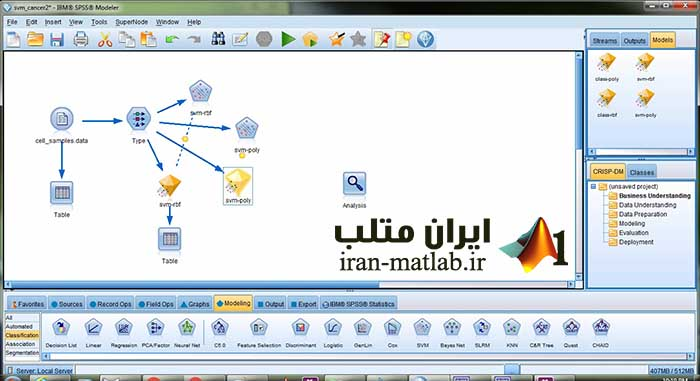 screen clementine IBM SPSS modeler6